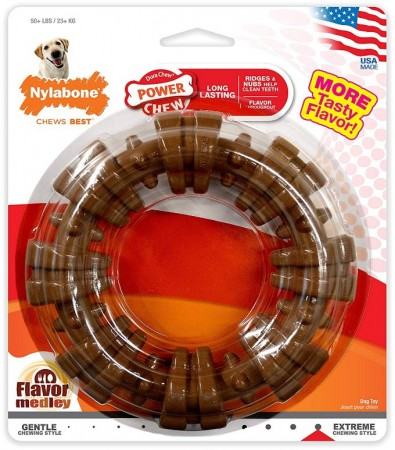 Nylabone Dura Chew Textured Ring - Flavor Medley alternate img #1