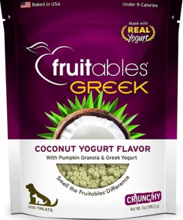 Fruitables Greek Coconut Yogurt Flavor Crunchy Dog Treats alternate img #1