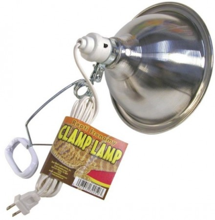 Zoo Med Economy Chrome Clamp Lamp with 8.5 Inch Dome alternate img #1