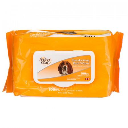 Perfect Coat Deodorizing Bath Wipes for Dogs alternate img #1