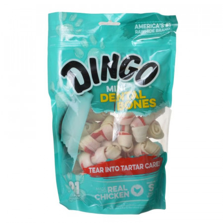 Dingo Dental Bones with Real Chicken - Mini alternate img #1