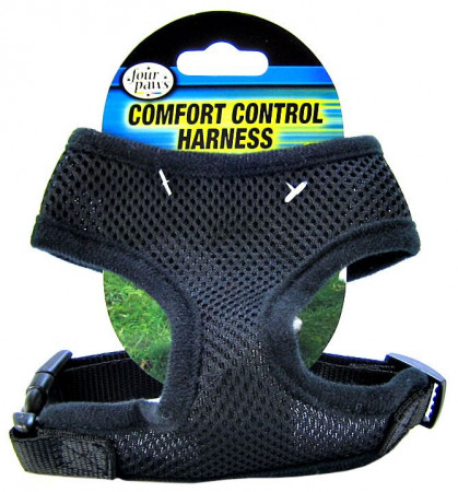 Four Paws Comfort Control Harness - Black alternate img #1