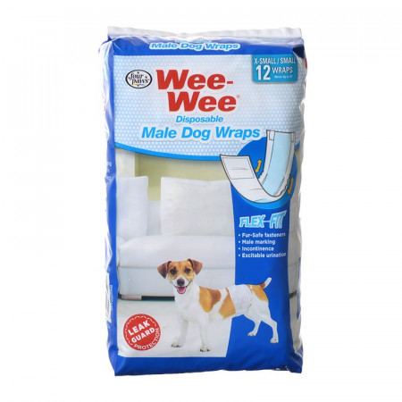 Four Paws Wee Wee Disposable Male Dog Wraps - X-Small/Small alternate img #1