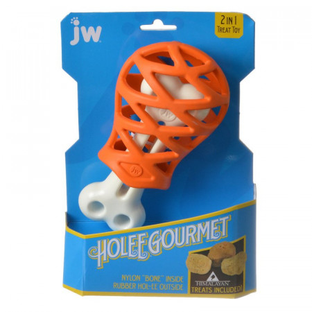 JW Pet Holee Gourmet Turkey Leg Dog Toy alternate img #1