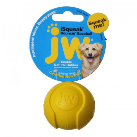 JW Pet iSqueak Bouncin Baseball - Assorted Colors alternate img #1