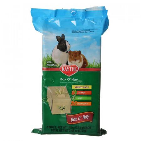 Kaytee Box O Hay Variety Pack - Carrot, Mint & Marigold alternate img #1