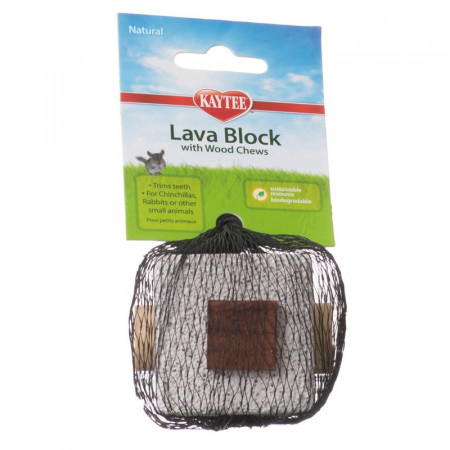 Kaytee Lava Block with Wood Chews for Small Pets alternate img #1