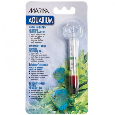 Marina Aquarium Floating Thermometer w/ Suction Cup alternate img #1