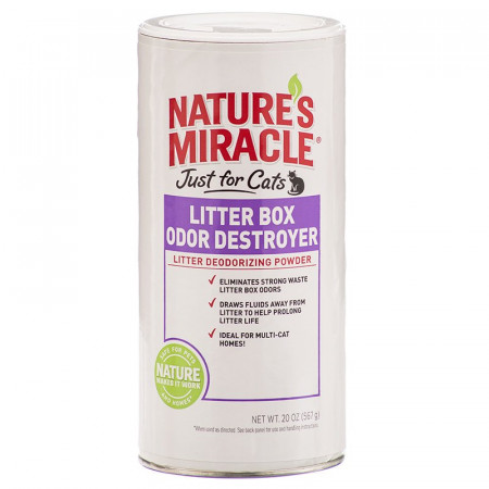 Natures Miracle Just For Cats Litter Box Odor Destroyer Deodorizing Powder alternate img #1