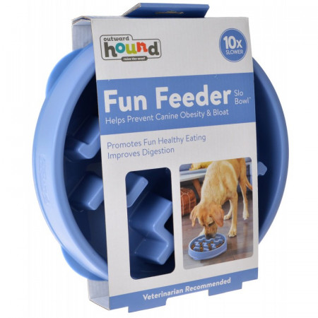 Outward Hound Fun Feeder Slo Bowl - Blue alternate img #1