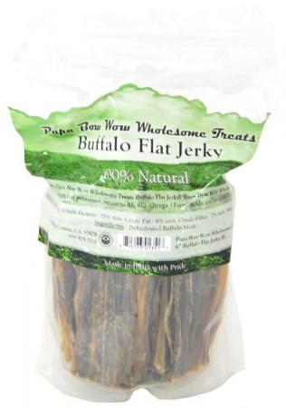 Papa Bow Wow Buffalo Flat Jerky Dog Treats alternate img #1