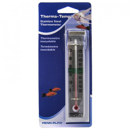 Penn Plax Therma-Temp Stainless Steel Thermometer alternate img #1