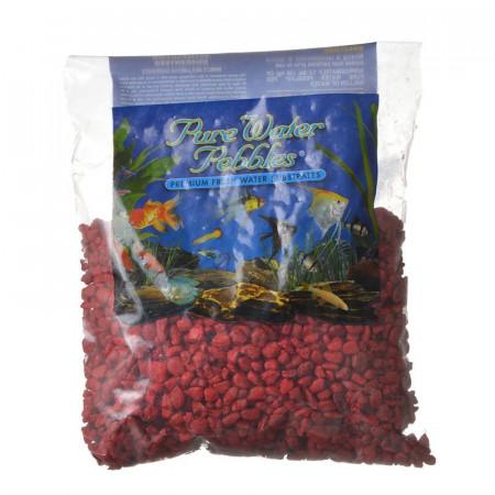 Pure Water Pebbles Aquarium Gravel - Currant Red alternate img #1