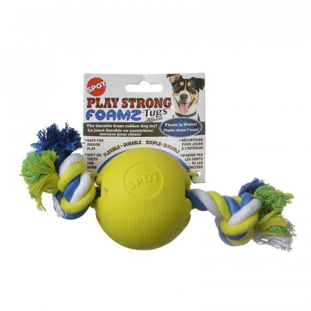 Spot Play Strong Foamz Dog Toy - Ball with Rope alternate img #1