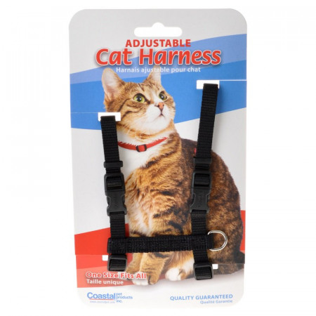 Tuff Collar Adjustable Cat Harness - Black alternate img #1