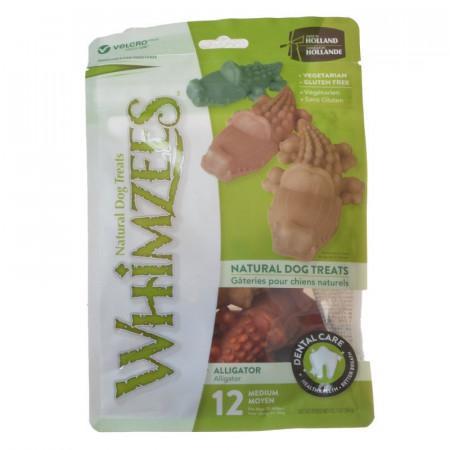 Whimzees Natural Dental Care Alligator Treats - Medium alternate img #1