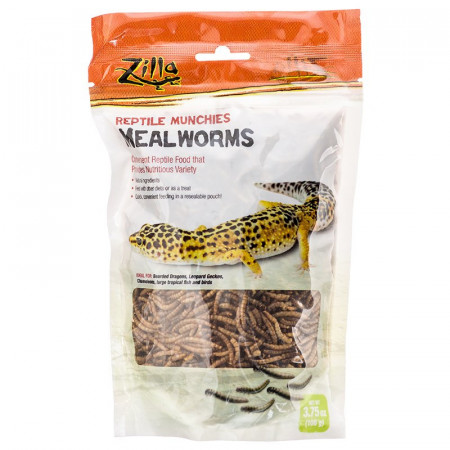 Zilla Reptile Munchies Mealworms alternate img #1