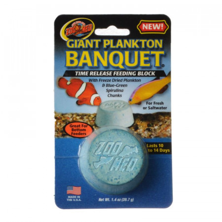 Zoo Med Giant Plankton Banquet Time Release Feeding Block alternate img #1