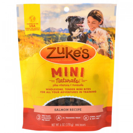 Zukes Mini Naturals Dog Treats - Salmon Recipe alternate img #1