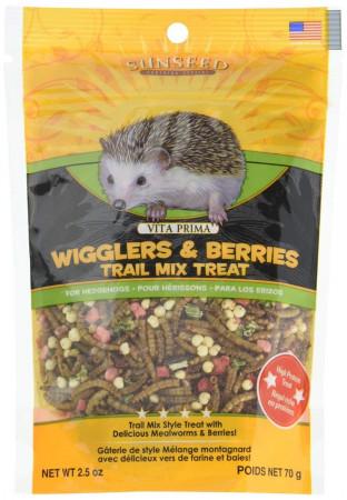 Vitakraft Sunseed Vita Prima Wigglers & Berries Trail Mix Hedgehog Treat alternate img #1