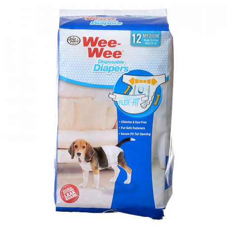 Four Paws Wee Wee Disposable Diapers - Medium alternate img #1