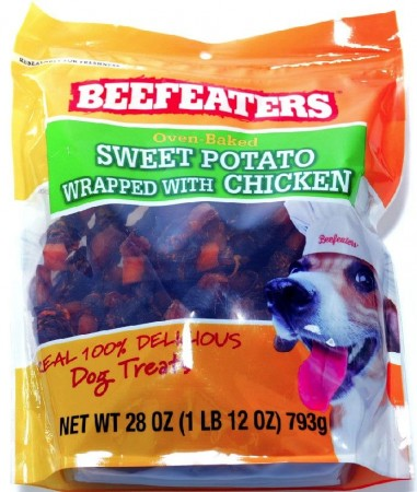 Beafeaters Oven Baked Sweet Potato Wrapped with Chicken Dog Treat alternate img #1