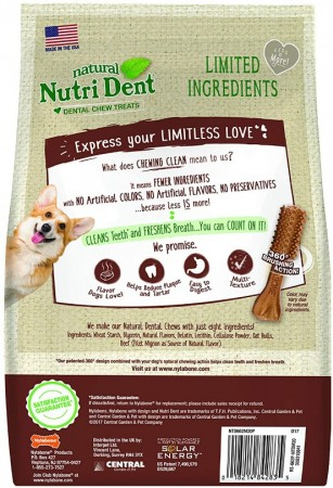 Nylabone Natural Nutri Dent Filet Mignon Limited Ingredients Medium Dog Chews alternate img #2