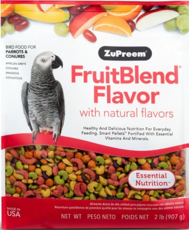 ZuPreem FruitBlend Flavor Bird Food for Large Birds alternate img #1