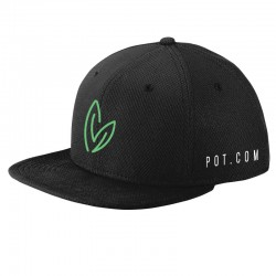 See Snapback Flatbill Hat in Black