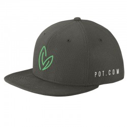 See Snapback Flatbill Hat in Charcoal