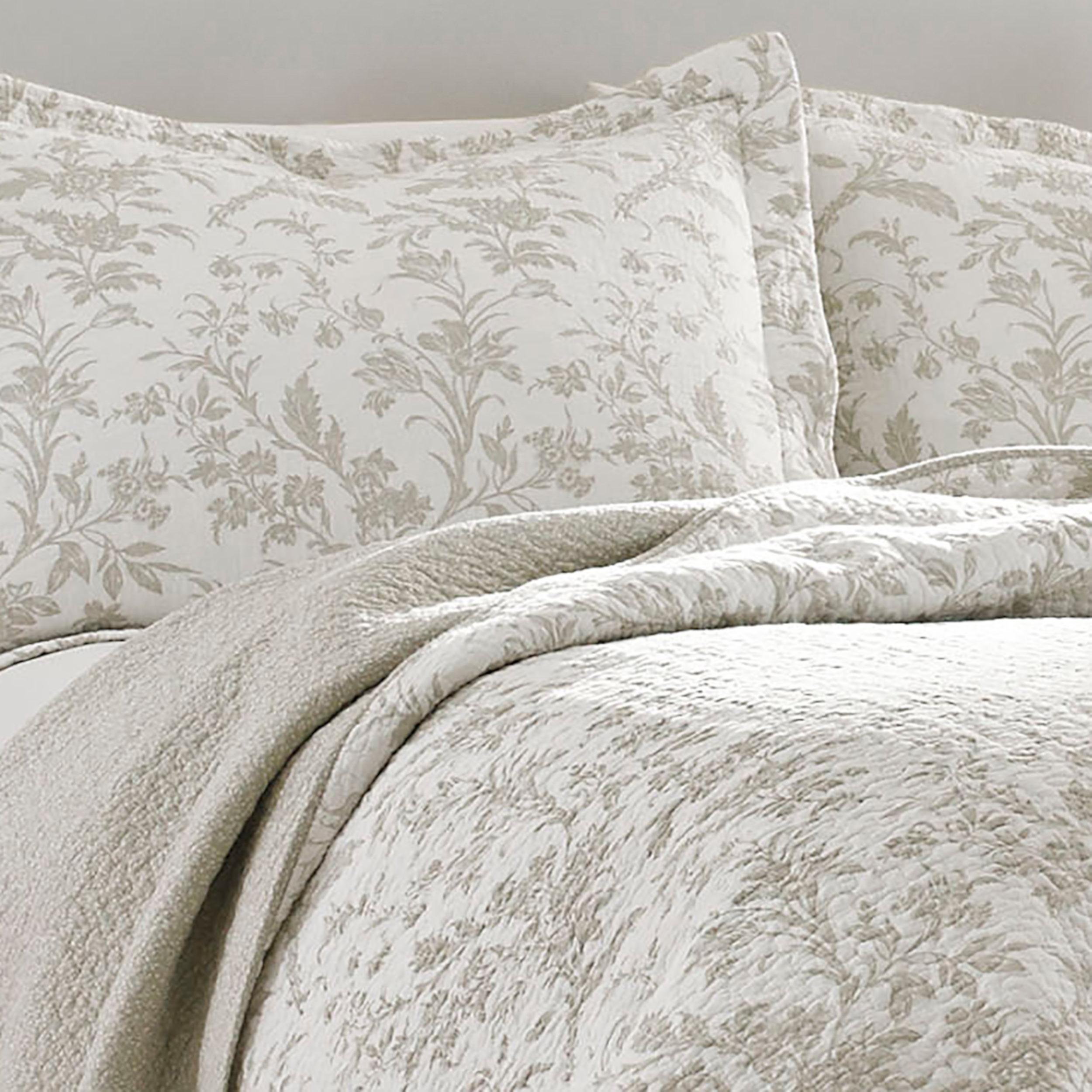 Quilts Bedspreads Coverlets Twin Full Queen King Cotton Laura Ashley Brompton Serene 3 Piece Quilt Set Netpackmdz Com Ar