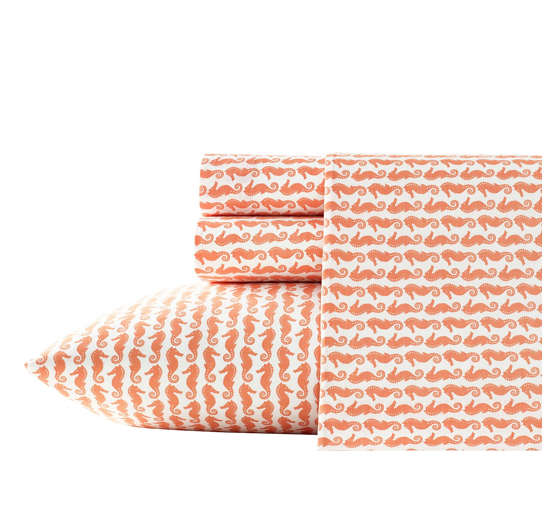Poppy & Fritz Seahorses 3-Piece  Sheet Set, Cotton-Percale,