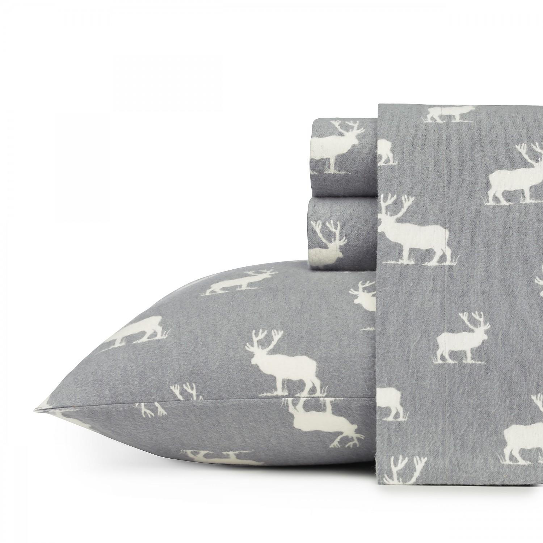 Eddie Bauer Elk Grove 3-Piece Sheet Set, Flannel, Twin/Full/