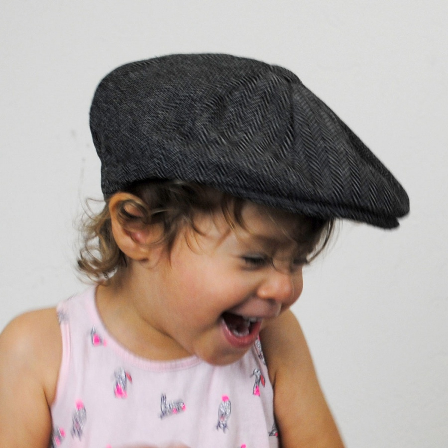 d8652cd96 Details about Jaxon Hats Baby Herringbone Wool Blend Newsboy Cap