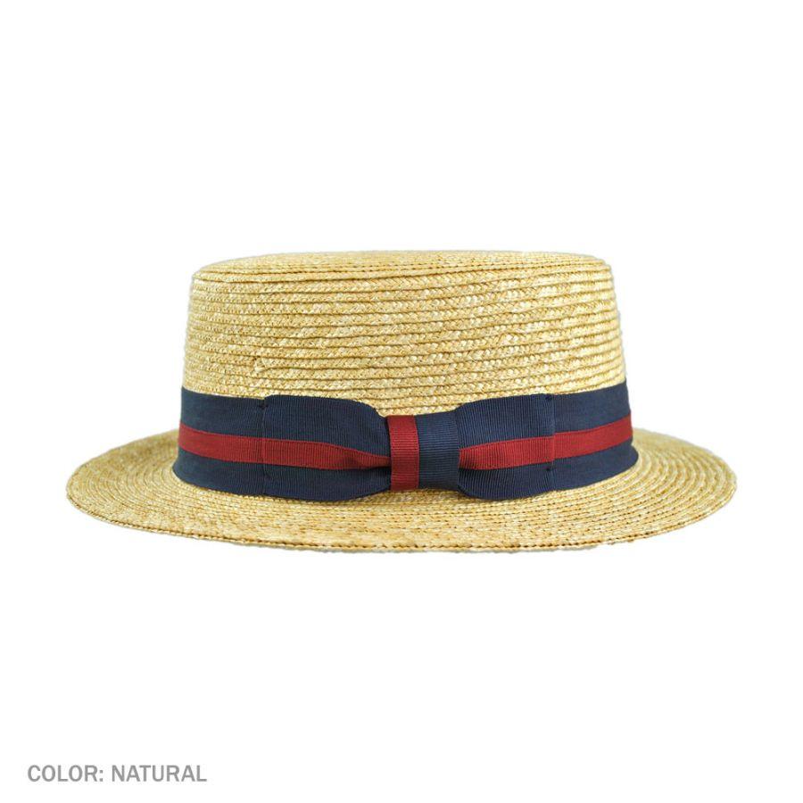 a7893783598 Striped band wheat straw skimmer hat ebay jpg 900x900 Wheat straw skimmer  boater hat