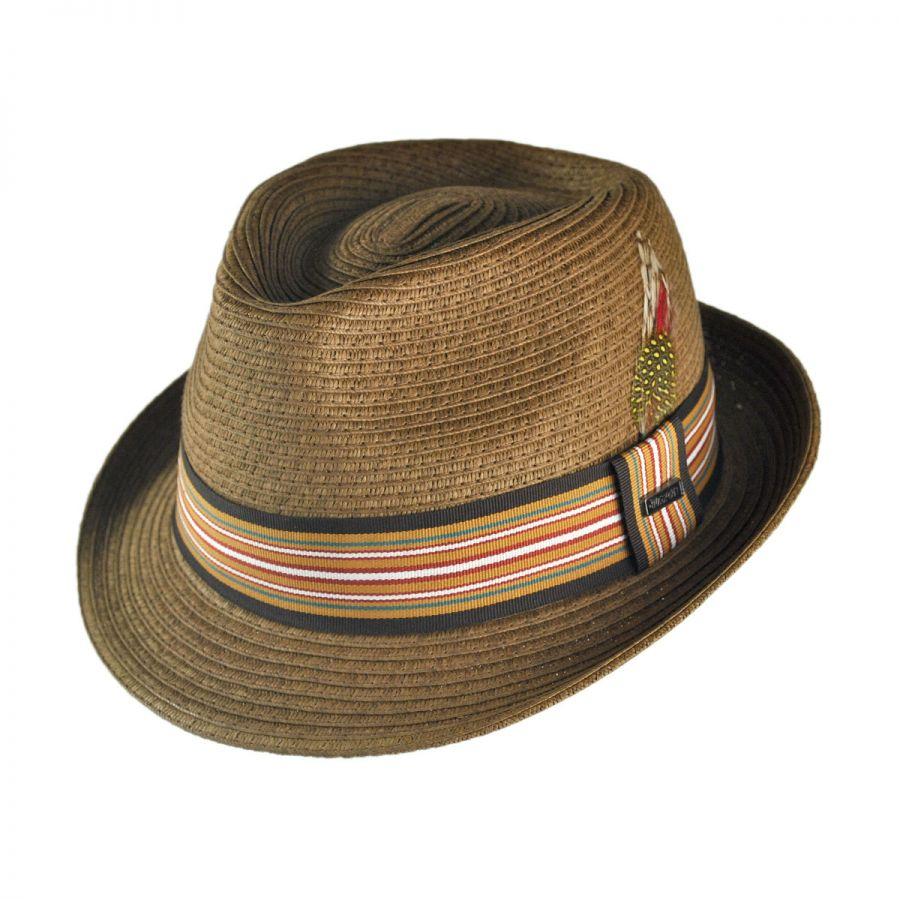40e2614153a Jaxon Hats Ridley Toyo Straw Trilby Fedora Hat | eBay