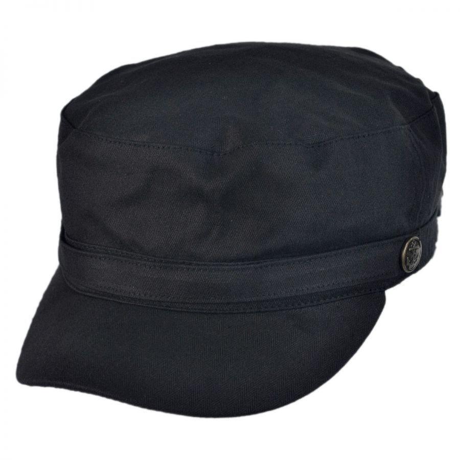 Herringbone Cotton Cadet Cap  abd03c76b145