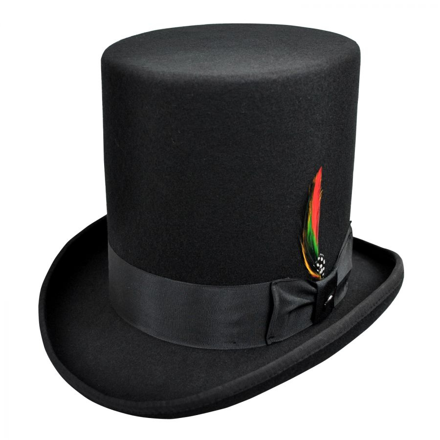 655375e3be81e5 Jaxon-Hats-Stovepipe-Wool-Felt-Top-Hat thumbnail 10