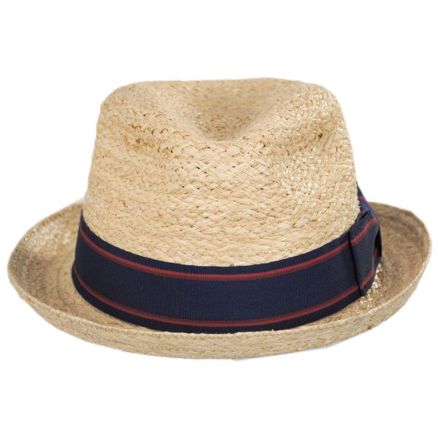 Golden Hill Raffia Straw Fedora Hat  7157fbae560