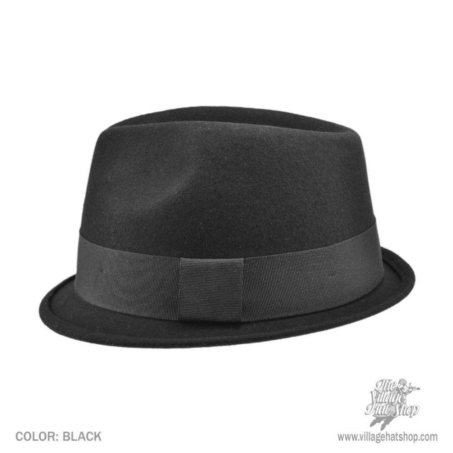 cab5347a Jaxon Hats Dekker Crushable Wool Felt Trilby Fedora Hat   eBay