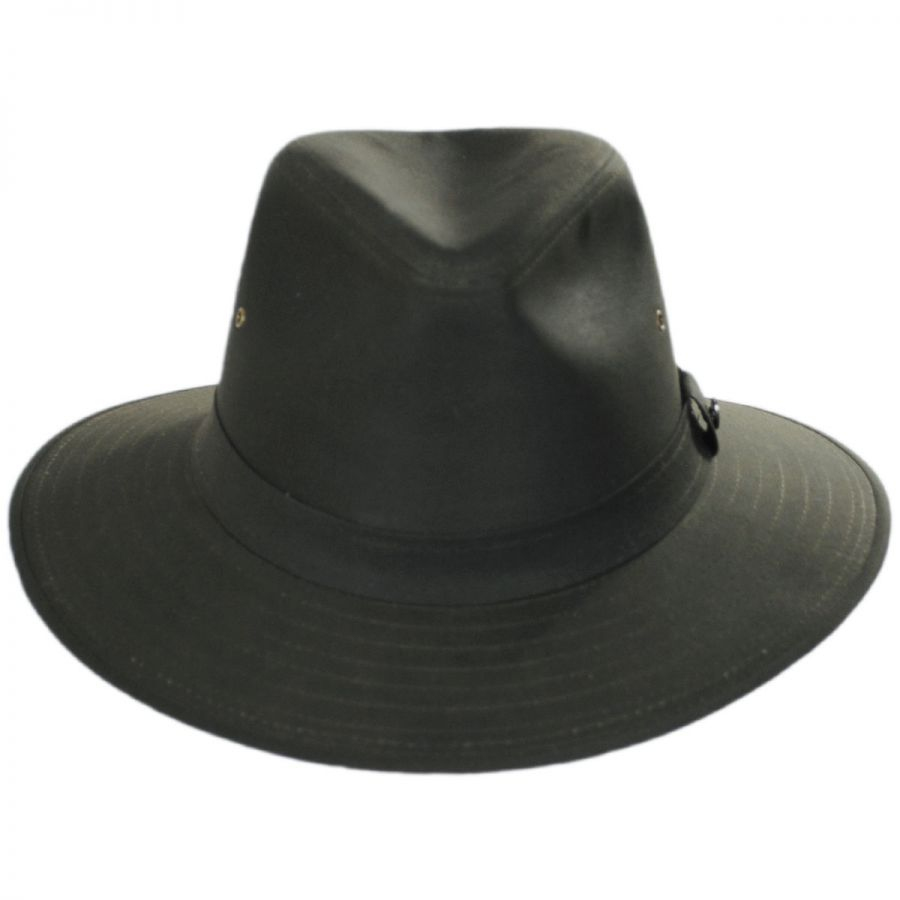 2e5c1b3d1d900 Jaxon Hats Cotton Oilcloth Safari Fedora Hat