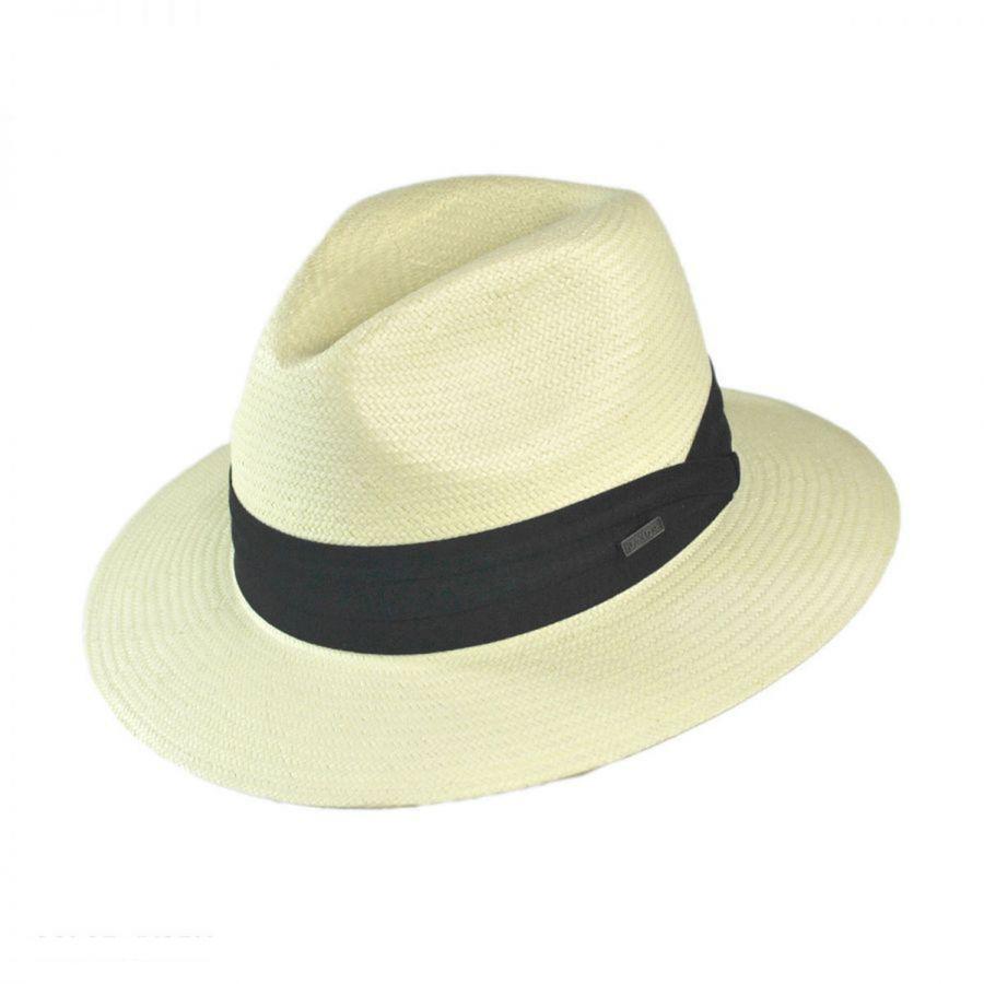 c4c69e05bc7bb Jaxon Hats Toyo Straw Safari Fedora Hat - Black Band