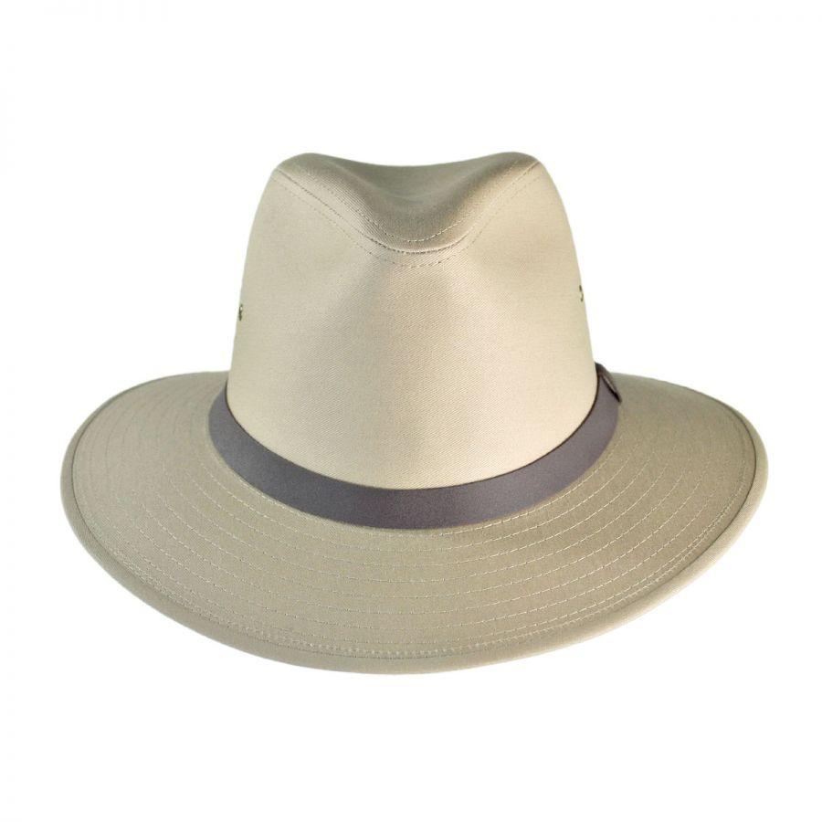 Jaxon Hats Cotton Safari Fedora Hat