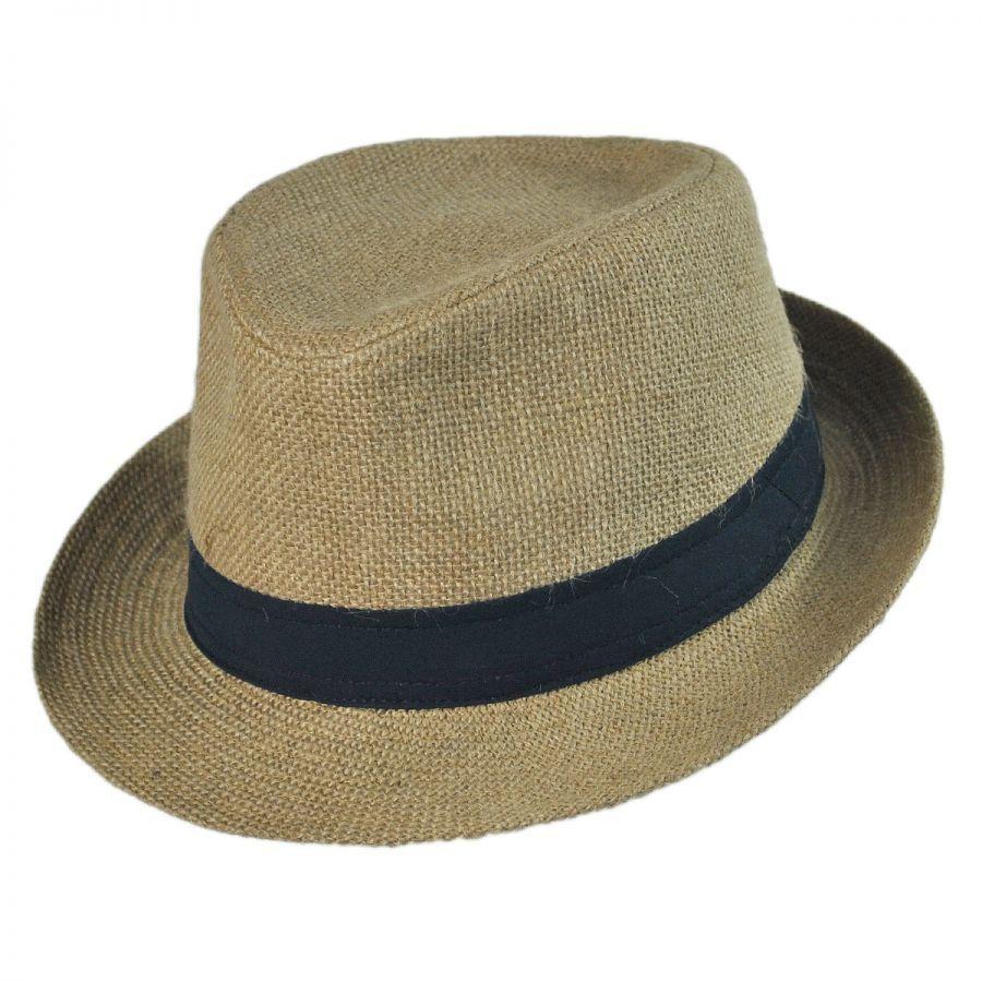 b24cdac0014e1 Jaxon Hats Jute Fabric C-Crown Trilby Fedora Hat