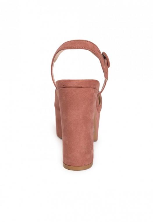 Abbott Ankle Strap Platform Heels in Light Pink alternate img #2