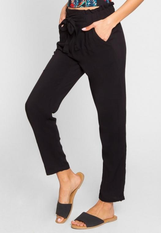 Joy High Waist Rayon Pants in Black alternate img #4