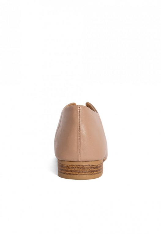 Anchor Pointed Toe Loafer Flats in Taupe alternate img #2