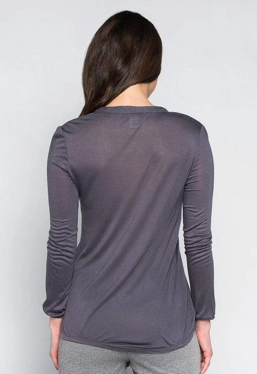 Day Off Pintuck Blouse in Charcoal alternate img #2