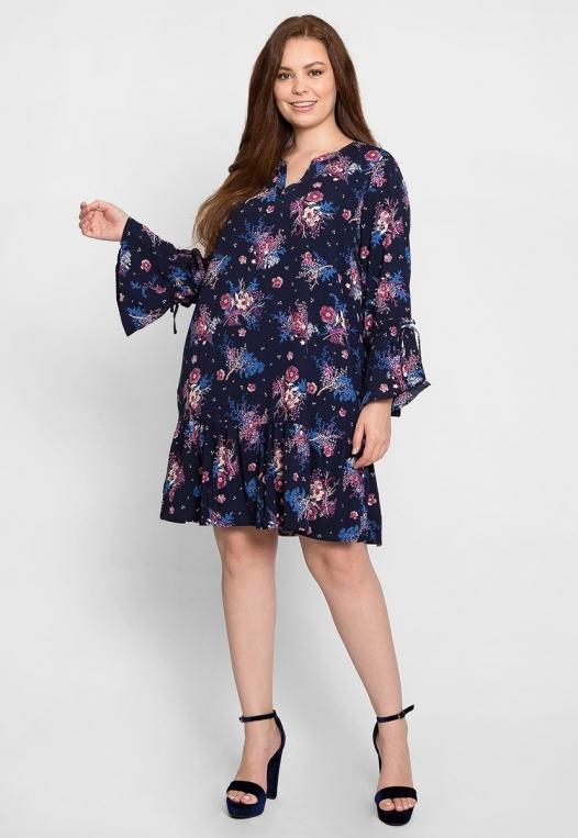 Plus Size Mystic Floral Dress alternate img #4