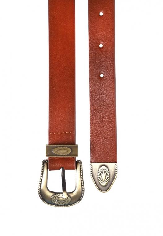 Skinny Western Buckle Jean Belt alternate img #2